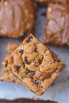 chocolate chip dulce de leche bars - and I just so happen to have a can of homemade dulce de leche in my pantry!  Uh oh - out of chocolate chips. . . . . dang it.