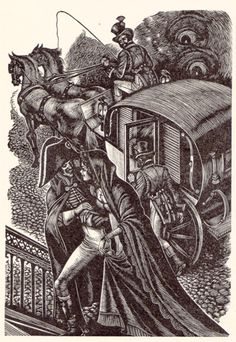 """The couple were thus revealed to me clearly."" Fritz Eichenberg (1947) Eichenberg is unusual among illustrators of Jane Eyre in that he twice chooses to depict Rochester's perspective; usually, the illustrators focus on Jane."