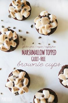 Gluten-Free Vegan Marshmallow Topped Brownie Cups