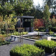 jardin duro con espejo de agua