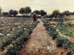 The Potato Patch by William Merritt Chase #art