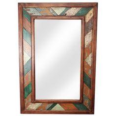 My Amigos Imports Folk Art Rustic Accent Mirror Vanity Wall Mirror, Wood Framed Mirror, Mirror Set, Wooden Wall Art, Diy Mirror, Wood Wall, Coastal Mirrors, Rustic Mirrors, Rustic Mexican Furniture