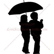 Image result for silhouette with umbrella