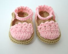 Sandalias de crochet para bebés estilo by BabyBootsBoutique