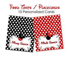 Set of 12 Red Mickey Mouse Food Tents
