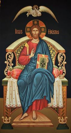 Christ Enthroned (on black), large icon Religious Pictures, Jesus Pictures, Religious Icons, Religious Art, Byzantine Icons, Byzantine Art, Christus Pantokrator, Jesus Christus, Christ The King