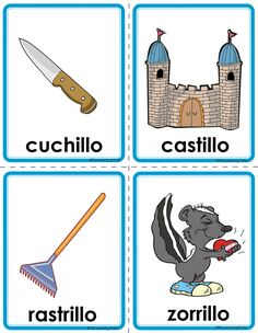 Picture Learning Websites For Kids, Learning Tools, Spanish Vocabulary, Teaching Spanish, Catalan Language, Spanish Pictures, Kindergarten Readiness, Rhyming Words, Worksheets For Kids