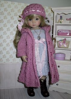 Set for Dianna Effner 13 inches doll - coat, dress, hat, scarf and necklace. | eBay