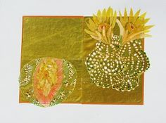 "Image: artist Alexandra Gjurasic  Succulents, 9""x12"", mixed media on paper, 2009  www.alexandragjurasic.com"