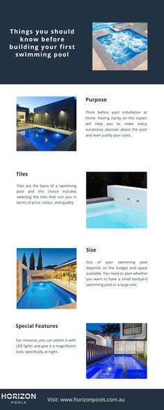 Things You Should Know Before Building Your First Swimming Pool Swimming Pools Backyard Pool Pool Installation