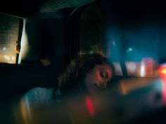 in a taxi could be classy - the city lights / colours out the window