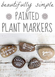 Garden Markers - cute, easy and useful!