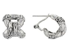 Artisan Gem Collection of Bali™ Sterling Silver Round Link Earrings