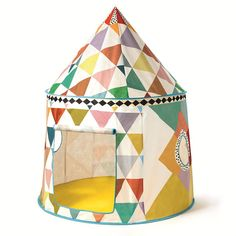 Cabane Multicolore - DJECO - Tentes de jeu Enfant Originales