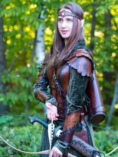 elven archer leather armor by Lagueuse - COSPLAY IS BAEEE! Tap the pin now to grab yourself some BAE Cosplay leggings and shirts! From super hero fitness leggings, super hero fitness shirts, and so much more that wil make you say YASSS! Fantasy Armor, Medieval Fantasy, Batman Christian Bale, Cosplay Costume, Elven Cosplay, Medieval Costume, Elven Costume, Larp Costumes, Warrior Costume