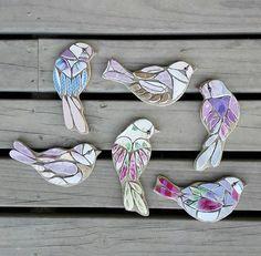 Art And Craft Jewelry Mosaic Animals, Mosaic Birds, Glass Animals, Mosaic Flower Pots, Mosaic Pots, Mosaic Crafts, Mosaic Projects, Ceramic Mosaic Tile, Mosaic Glass
