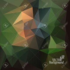 Multicolor (verde, Naranja, Marrón) Plantillas De Diseño. Fondo Geométrico Triangular Abstracta Moderna Del Vector. Ilustraciones Vectoriales, Clip Art Vectorizado Libre De Derechos. Pic 32719876.