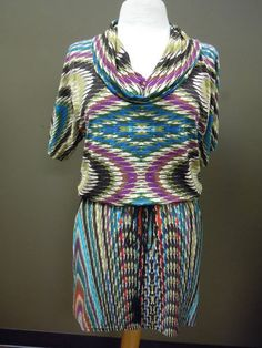 Uncle Frank Cowl Neck Dress. Fun print and style ON SALE for $104