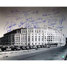 Original Yankee Stadium, 1923. Signed by the 2008 #Yankees.