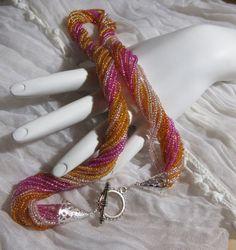 Zaad kralen halsketting Beaded halskettingen van jerzeygems op Etsy