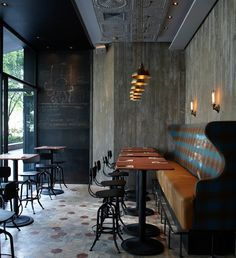 Matto Bar Pizzeria In Shanghai Vintage Meets Restaurant Design