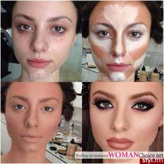 Макияж куклы до и после