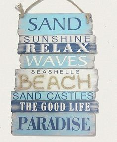 This Blue Plank Wall Sign is perfect! #zulilyfinds