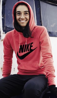 #Tennis player Caroline Garcia rocks her Nike Limitless Hoody wherever & whenever she wants. #nike #style #nsw