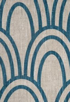 Scallop fabric from My Sparrow. Would love to cover a bench in a bedroom with this!