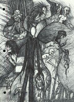 Creepy Doodles by KysonKyoko.deviantart.com on @deviantART