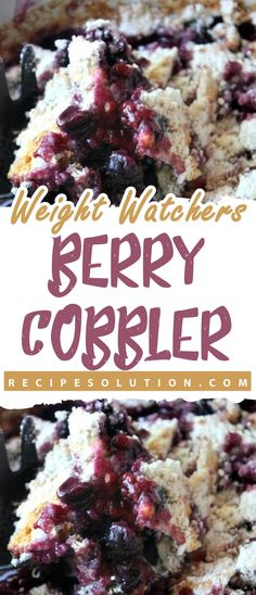 Weight Watchers Berry SMARTPOINTS I ate my Berry Cobbler with a cup of No Sugar Added Blue Bell Country Vanilla ice cream. Ingredients</s. Ww Recipes, Slow Cooker Recipes, Cooking Recipes, Healthy Recipes, Cake Recipes, Dessert Recipes, Weight Watchers Cake, Weight Watchers Desserts, Weight Watchers Cobbler Recipe