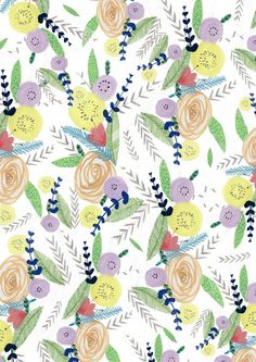 amyisla:  Floral pattern wrapping paper