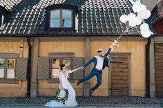Dig håller jag hårt i / Hang on / Wedding photo