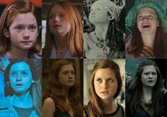 "Here's How The ""Harry Potter"" Actors Looked Like In Each Film Ginny Weasley, Harry Y Ginny, Harry Potter Girl, Harry Potter Actors, Harry Potter Fandom, Harry Potter Memes, Hermione Granger, Bonnie Wright, Bonnie Francesca Wright"