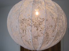 Lamp  Pendant light --Cute Porch Idea. Take paper lanterns and then cover them with lace.