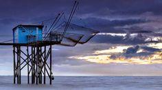 filets, cabane de pêche, ponton, carrelet de Charente Maritime