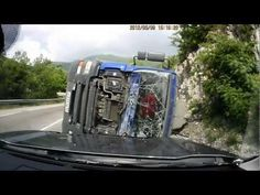 Truck Crashes And Flips