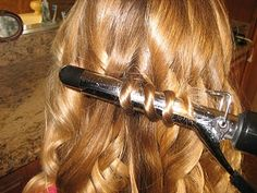 How to curl hair, wavy, large, & spirals.  Three different techniques.