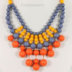 HOT Colorful Beaded Bubble Necklace,Beaded Jewelry,Beaded Neckalce,Statement Neckalce,Cluster Necklace,handmade Necklace-BN0343. $14.00, via Etsy.