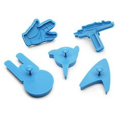 Never Even watched Star Trek, but love themed cookie cutters! Geek baking galore  eta: mom got me these for Christmas :) b/c of Big Bang Theory