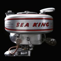 Sea King Midget 1946 Outboard Motor #seakingmidget #seaking #outboard Exterior Design, Interior And Exterior, Historical Artifacts, Outboard Motors, Kitchen Aid Mixer, Design Projects, Boat, King, Decor