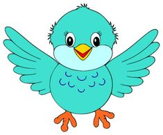 Cute Little Blue Bird (Clipart is credited to Colorful Cliparts) Vogel Clipart, Bird Clipart, Cute Clipart, All Animals Images, Penguin Images, Painting For Kids, Art For Kids, Bird Nest Craft, Black Bird Tattoo