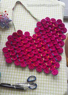 10 Most Unique FREE Crochet Heart Patterns: Circle Crochet Heart Pouch Free Pattern