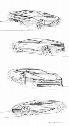 Car design sketches