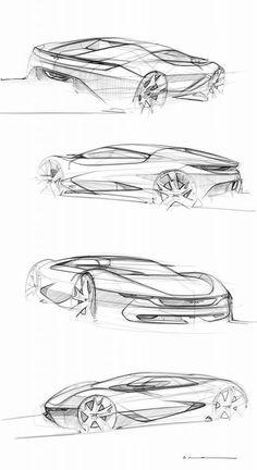 De Tomaso sketches by Arthur Coudert