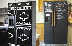 Ideias para deixar a geladeira velha mais bonita, mais bacana!