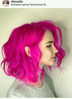 Lace Frontal Wigs Pink Hair Blonde And Pink Short Hair For Women – wigbaba Fucsia Hair, Pretty Hairstyles, Wig Hairstyles, Pink Short Hair, Hot Pink Hair, Short Colorful Hair, Hair Weft, Textured Hair, Ombre Hair