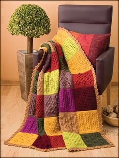 Patchwork Squares Afghan