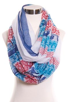 Elephant Print Infinity Scarf #May23Online