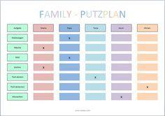 Putzplan für die ganze Familie